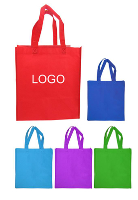 Promotional Custom Logo Non-Woven Economy Shopping Tote Bag