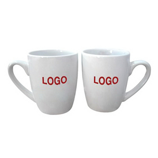 Custom Logo Ceramic Coffee Mug Cup With C Handle 12oz