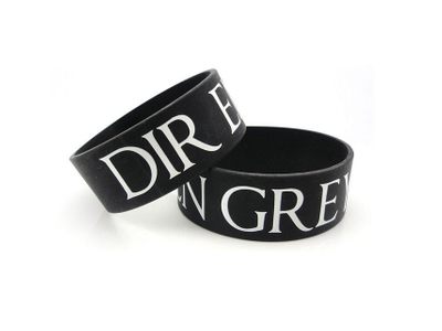 Custom 1 inch Rubber Awareness Bracelet Wristbands