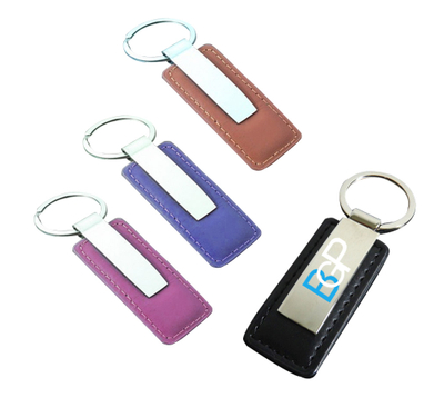 Custom PU Leather Keychain Key Ring