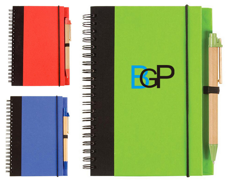 Custom Promotional Eco Handy Pocket Spirlal Notebook With Pen