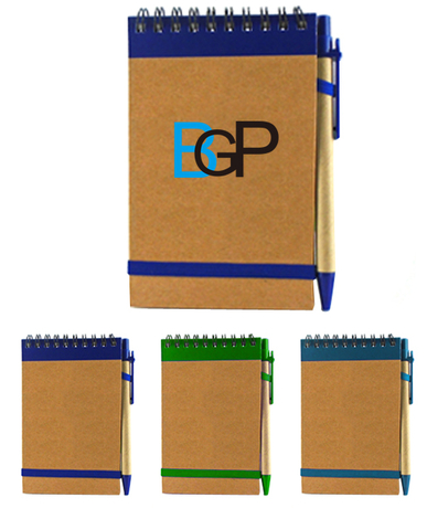 Custom Promotional Recycled Notebook With Pen