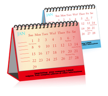 Custom Spiral Office Desk Pad Calendar