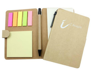 Personalized Recycled Note Book with Sticky Flags & Pen