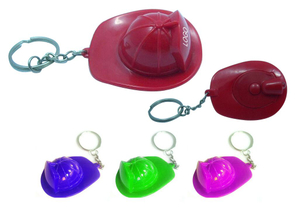 Custom Logoed Fireman Hat LED Keychain