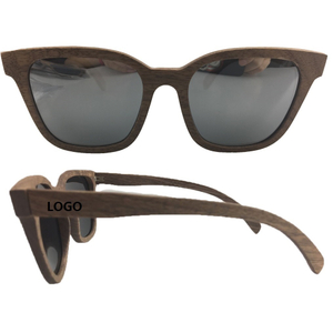 Custom Walnut Wood Polarized Sunglasses