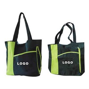 Imprinted Custom Two-tone Shopping Tote Grocery Bag