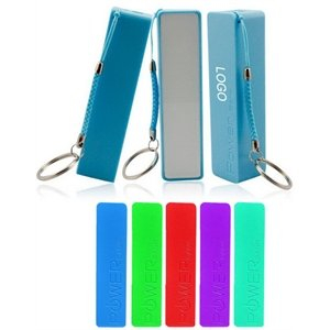 Personalized Rectangular Power Bank 2200mAh With Keychain