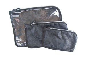 Custom Printed 3 Piece Travel Toiletry Bags Set