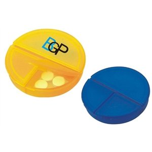 Custom Round 3-Compartment Pill Box