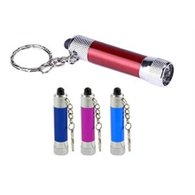 Personalized LED Flashlight Keychain Key Holder