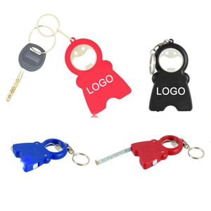 Print Smile Keychain Opener Light With Tape Measure