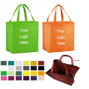 Reusable Grocery Tote Bag With Plastic Bottom Board
