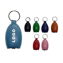 Customized PU Leather LED Keychain light