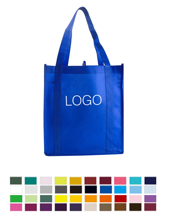 Promotional Logoed Custom Non-Woven Shopping Grocery Tote Bag
