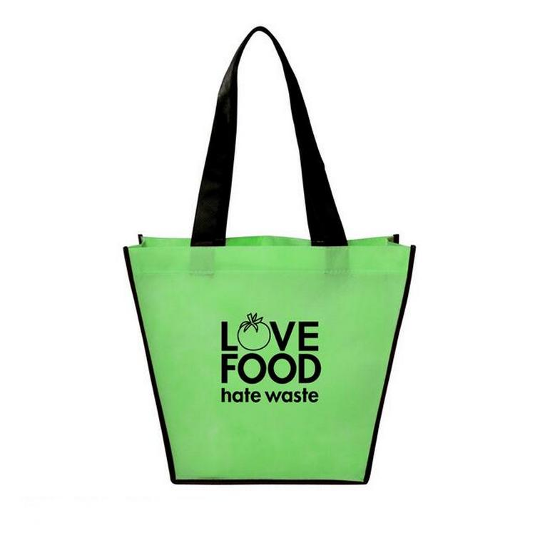 Custom Promotional Cheap Non-woven Two Tone Totes With Logo