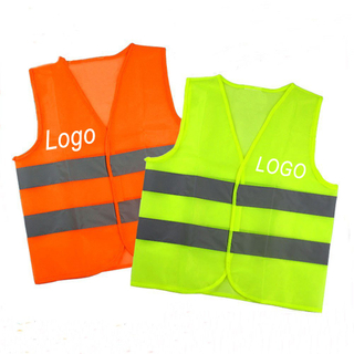 Custom Promotional Hi-Vis Two Band Safety Vest with Logo