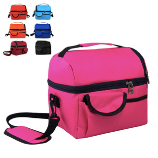 Large Double-Layer Multiple-pocket Insulated Cooler Bag