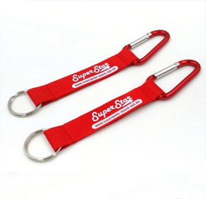 Print Carabiner Keychain with Polyester Strap
