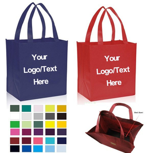 Imprinted 110GSM Non-woven Reusable Grocery Shopping Totes