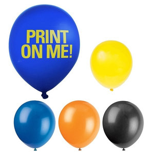 Imprint 12 Inch Neon Latex Balloons