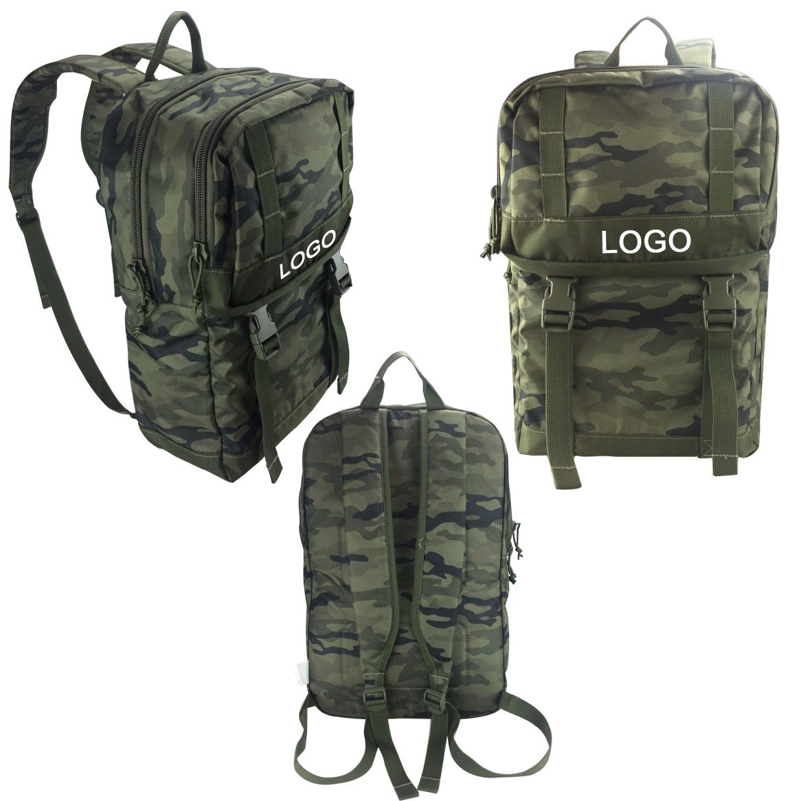 12.5W x 17H Inch Classic Camo Backpack
