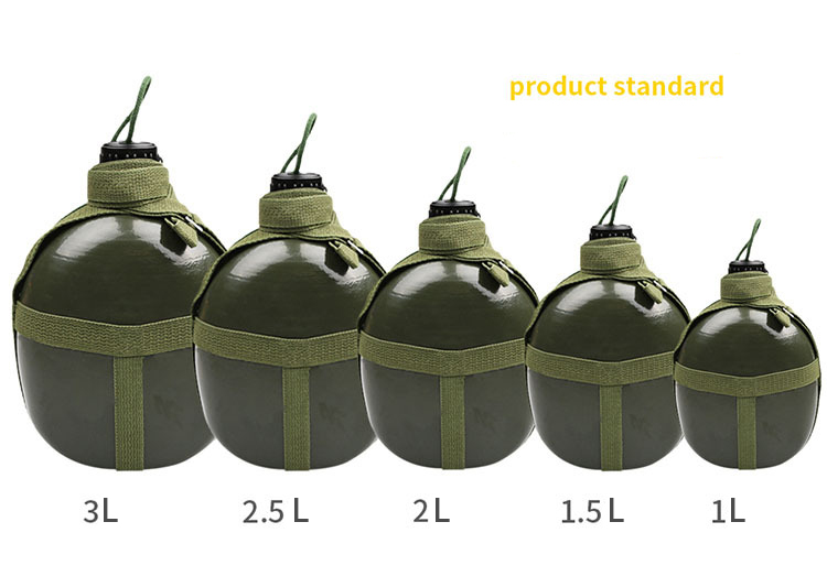 Portable Aluminium Military Army 1.5L Water Bottle