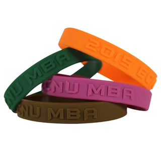 Natural Embossed Or Debossed Wristbands