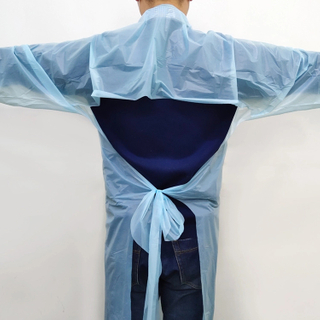 Disposable Anti-dust And Anti-statics CPE Plastic Isolation Gown