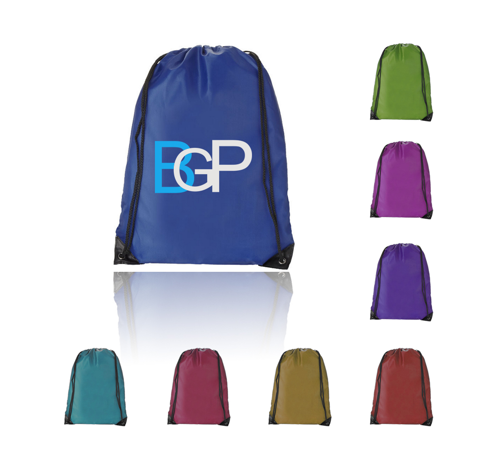 "170T Polyester Drawstring Sports Backpack 14 "" x 17 """
