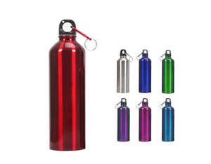 Aluminum Promotional Water Bottle With Carabiner 26oz