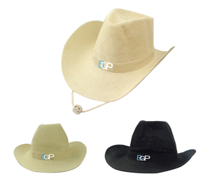 Popular Custom Logo Western Straw Cowboy Hat