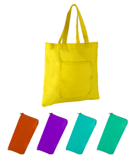 Eco Friendly Zipper Foldable Tote Bag