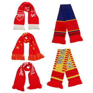 Knitted Fan Scarves