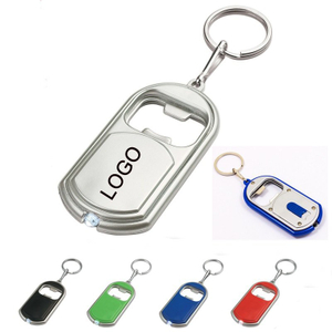 Customized LED Light Keychain With Bottle Opener