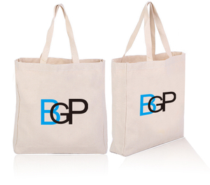 Custom Printed Canvas Cotton Tote Shopping Bag