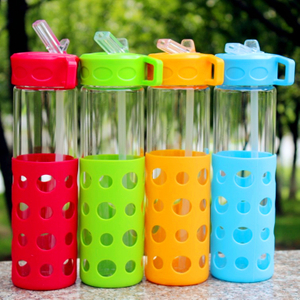 20 oz Glass Bottle With Silicone Covers