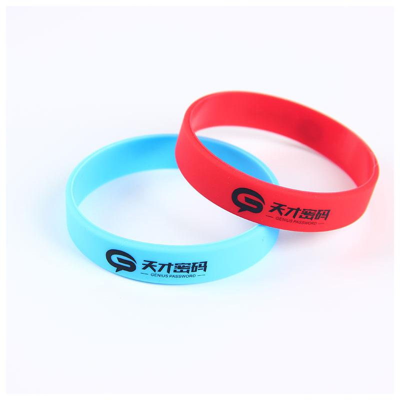 Silicone Wristbands Printed With Logo
