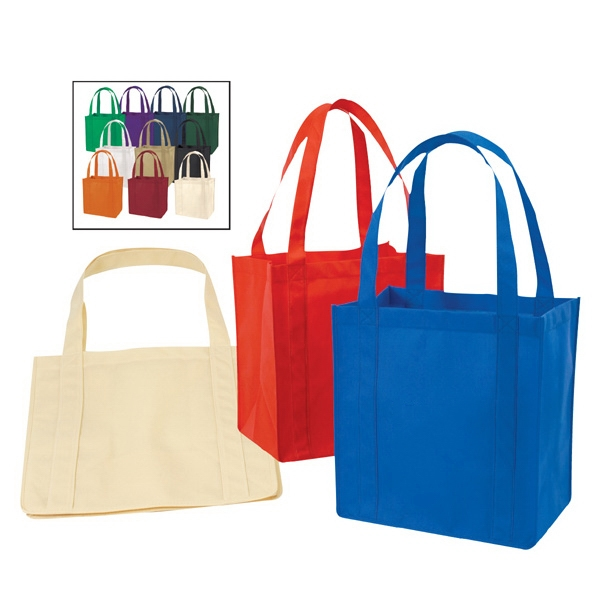 Promotional Reusable Cheap Logo 100gsm Non Woven Tote Bag