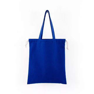 Drawstring Cotton Canvas Tote Bag for Shopping