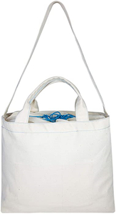 Large Canvas Tote Bag with Expandable Drawstring Closure