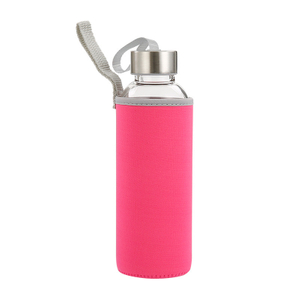 18 oz. Glass Water Bottles in Neoprene Pouch